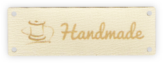 Classic Leather Labels with Text & Symbol
