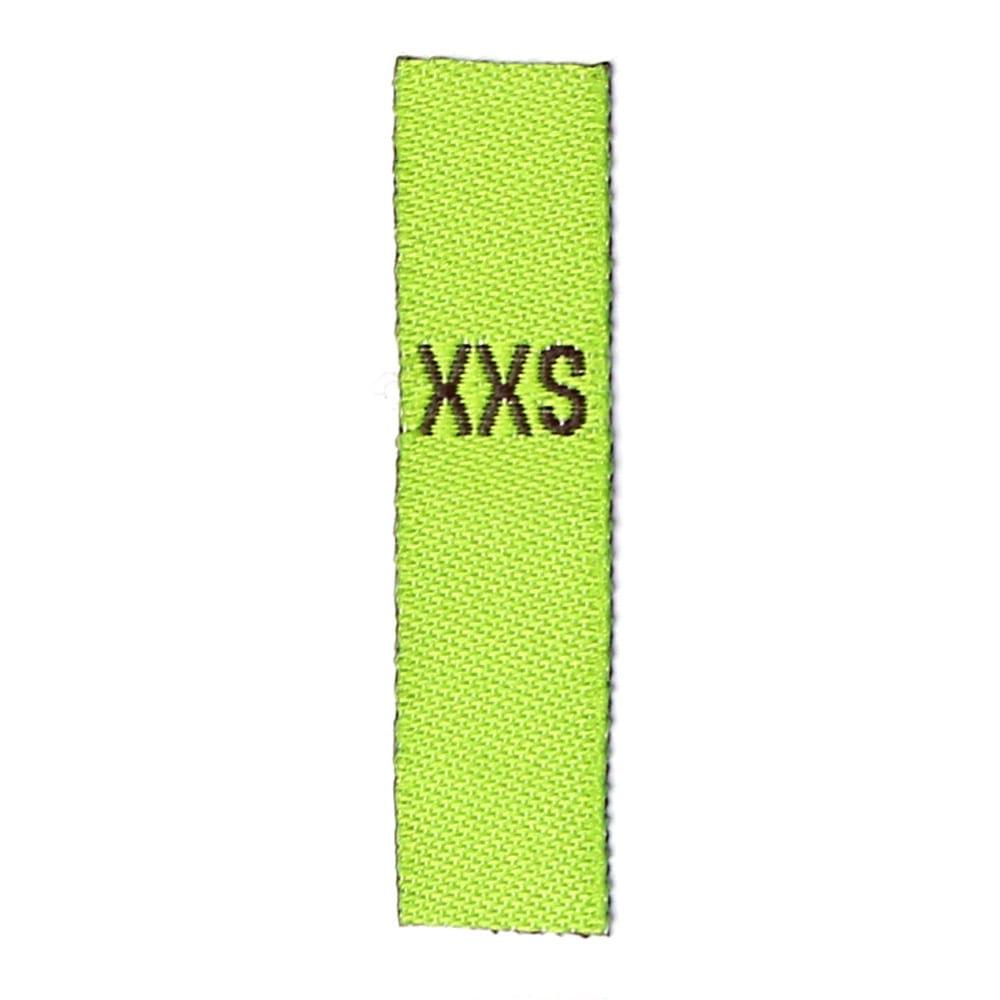 Adult Sizes - Apple green with black Text: XXS – XXL