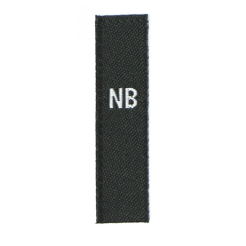 Baby & Toddler (USA) Sizes - Black with white Text: NB - 18-24 MO