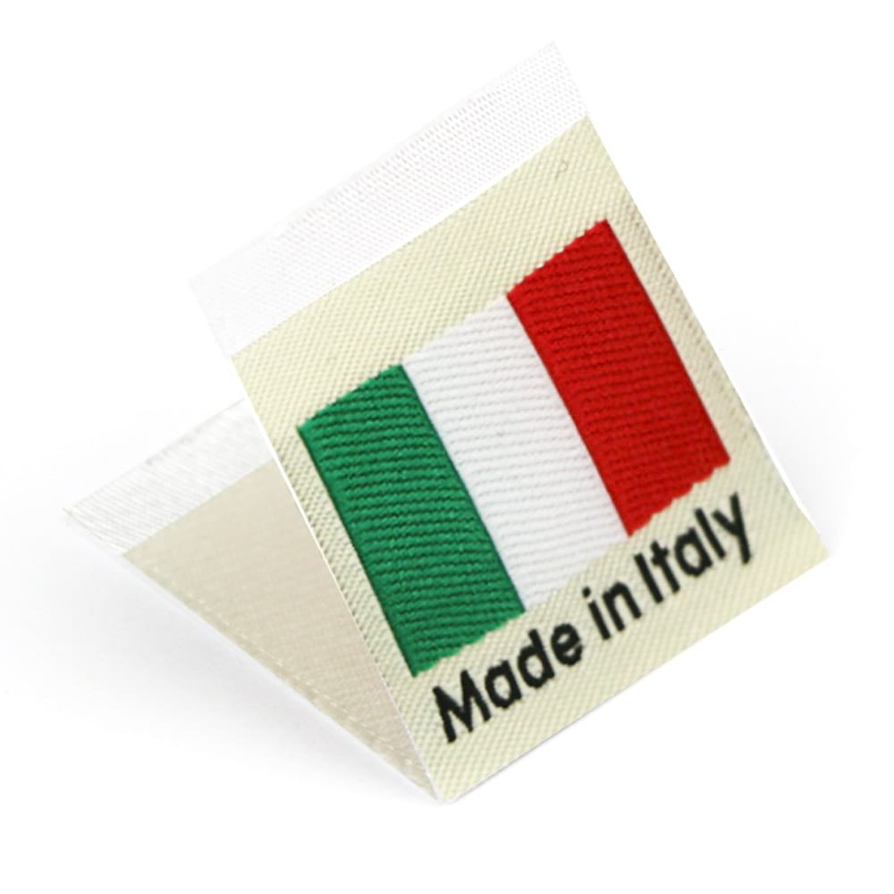 Woven 'Made in Italy' Flag Labels
