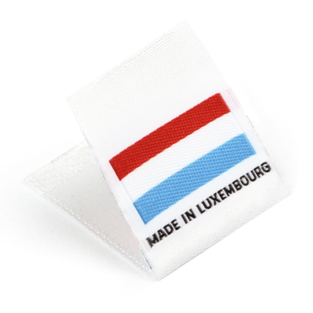Woven 'Made in Luxembourg' Flag Labels