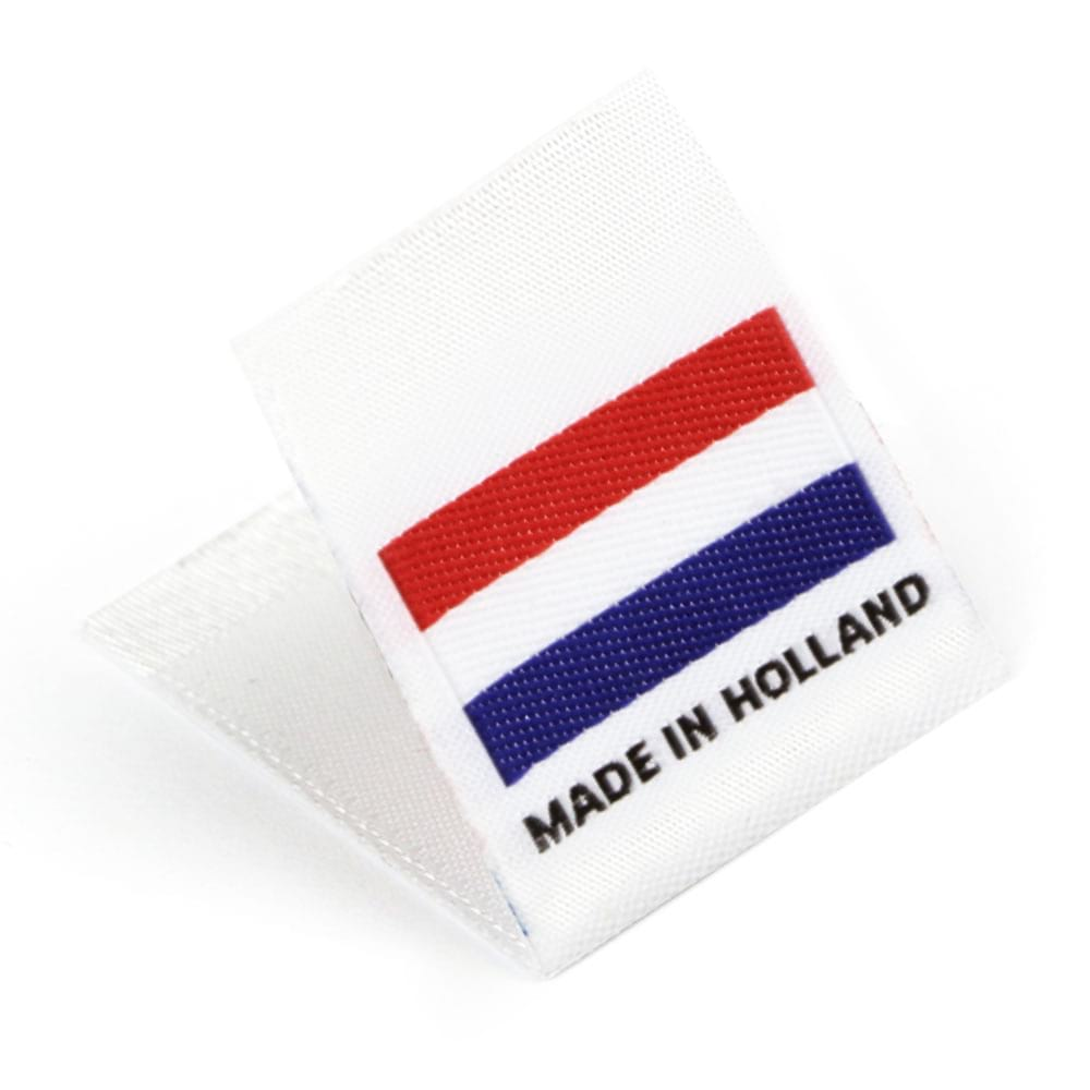 Woven 'Made in Holland' Flag Labels