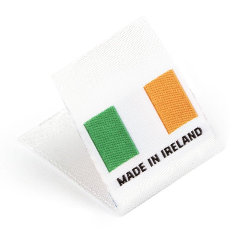 Woven 'Made in Ireland' Flag Labels