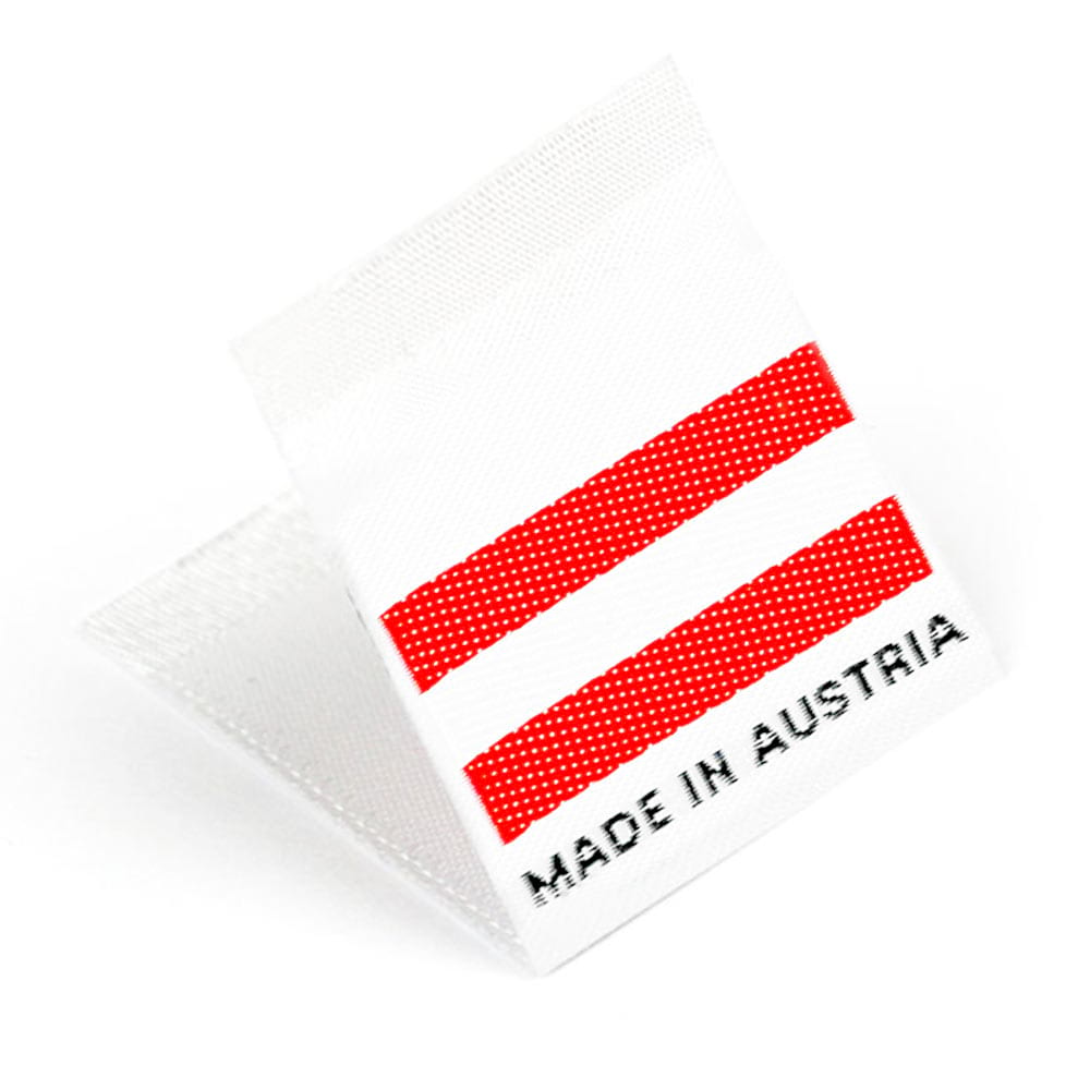 Woven 'Made in Austria' Flag Labels